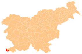 The location of the Municipality of Piran