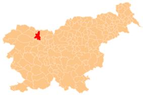 The location of the Municipality of Radovljica