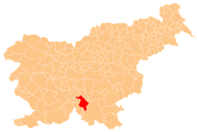 The location of the Municipality of Ribnica
