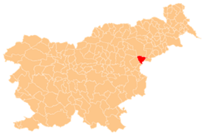 The location of the Municipality of Rogaška Slatina