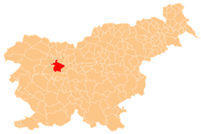 The location of the Municipality of Škofja Loka
