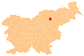 The location of the Municipality of Vitanje