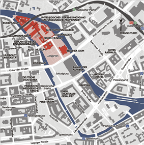 Map of the Museum Island