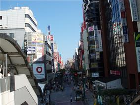 Looking east from Kashiwa Station