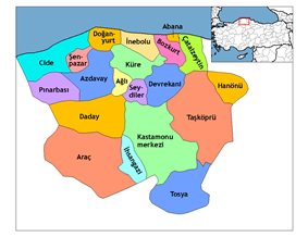 Districts of Kastamonu