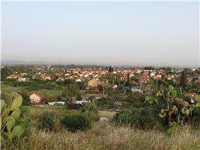 View of Gedera from Tel Qatra
