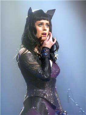 Katy Perry performing during the California Dreams Tour