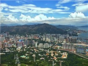 Day view of the Tuen Mun District skyline