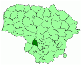 Location of Kazlų Rūda municipality within Lithuania