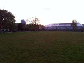 Kennedy Park, Cork with The Elysian in the background