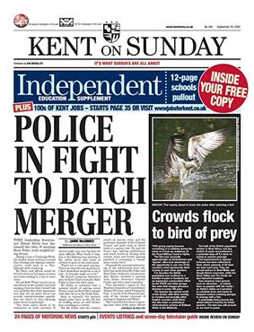 Kent on Sunday front page