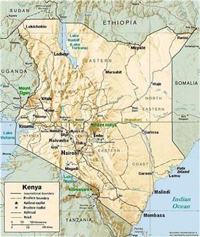 Nyeri, Kenya (click to enlarge map)
