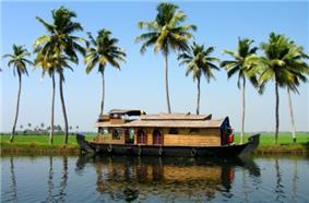 A houseboat near Alappuzha, Kerala
