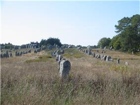 Standing stones in the Kermario alignment