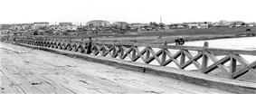 Bridge over the Kherlen River in Choibalsan (taken in 1972)