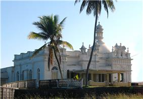 Kechimalai Mosque, Beruwala. One of the oldest mosques in Sri Lanka. It is believed to be the site where the first Arab Muslims landed in Sri Lanka