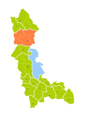 Location of Khoy County in West Azerbaijan Province.
