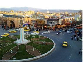 Khoy city center in iran country.jpg