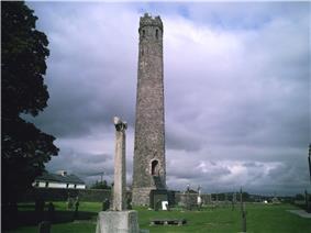 Photo of Kildare Irish Round Tower in the town of Kildare, in the County of Kildare Ireland