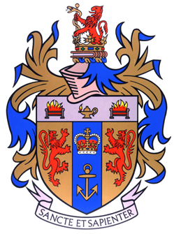 Arms of King's College London, displaying the motto