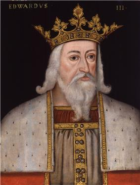 Early modern half-figure portrait of Edward III in royal garb.