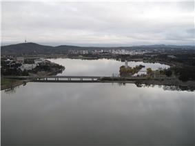 Aerial view of Kings Avenue Bridge