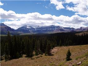 A photo of King's Peak and Henry's Fork Basin.