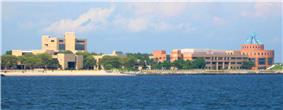Oceanside view of Kingsborough Community College's campus.