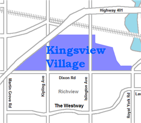 Location of Kingsview Village