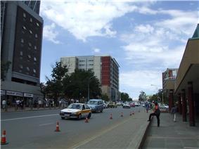 Kingsway in central Maseru