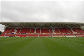 The Kingswood stand at the County Ground, Swindon Town F.C.'s stadium