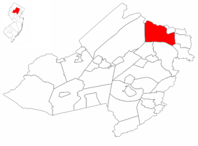 Kinnelon highlighted in Morris County. Inset map: Morris County highlighted in the State of New Jersey.