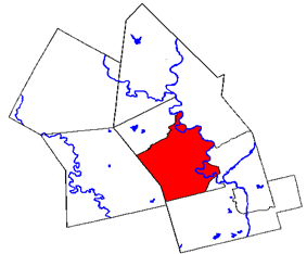 Location of Kitchener in Waterloo Region