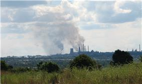 View towards the City of Kitwe, Zambia