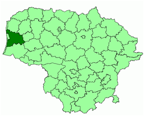 Location of Klaipėda district municipality within Lithuania