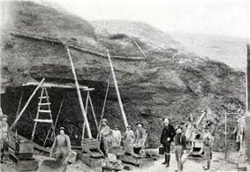 Photograph of mining operation