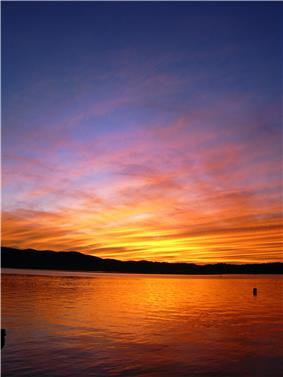 Sunset at Knysna (Western Cape, South Africa)