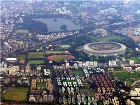 Kolkata Aerial view Salt Lake Stadium view 1.jpg