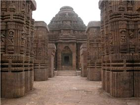 Front view of Konark Sun Temple