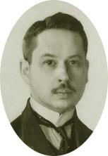 young man with moustache, seen full-faced