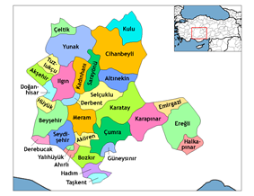 Location of Akşehir within Turkey.