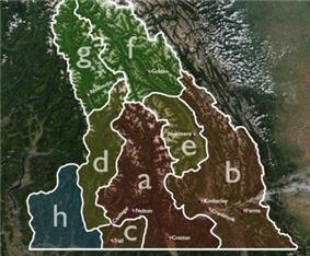 Various permutations of the boundaries of the Kootenays