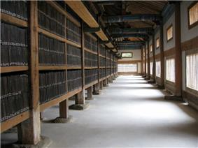 The Tripitaka Koreana in storage at Haeinsa.