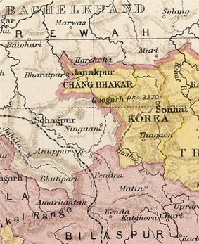 Location of Koriya