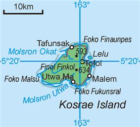 Map of Kosrae