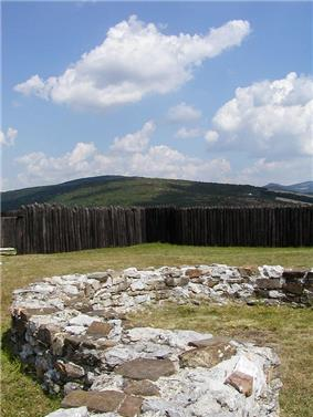 Ruins of a fort at Kostolec