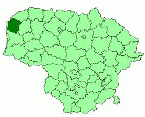 Location of Kretinga district municipality within Lithuania