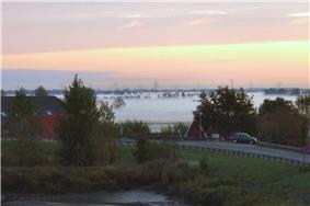 Krimpenerwaard landscape on an October morning in 2009