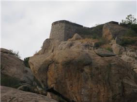 Remains of the ancient fort on the Syed Basha Hill