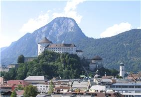View to Kufstein Fortress and Brandenberg Alps